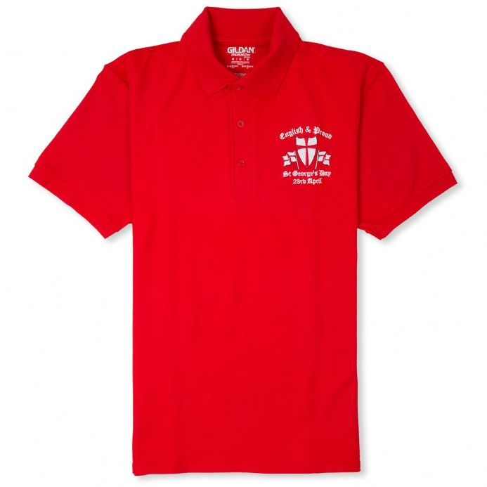 English and Proud Polo Shirt - Red